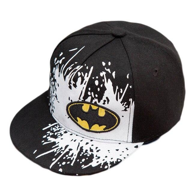 2017 new Snapback Caps Gorras Unisex Kids Hip-hop Snapback Batman Cap  Children Adjustable Flat fd9fad119f07