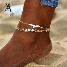 3 шт/лот богемные ножные браслеты с блестками Орла для женщин