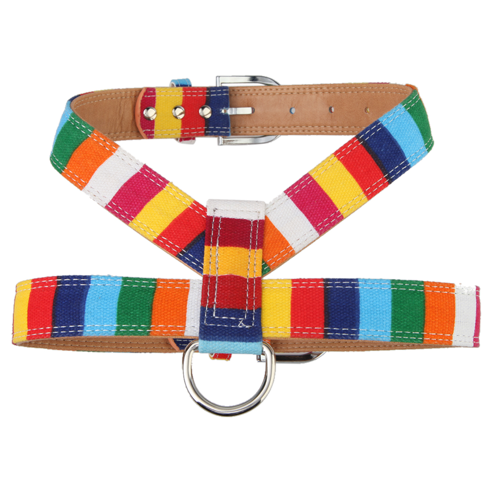 Pet Dog Collar for Large Dog Size Leather Plain Collar for Big Small Dog Colorful Rainbow Dog Collar S M L XL XXL