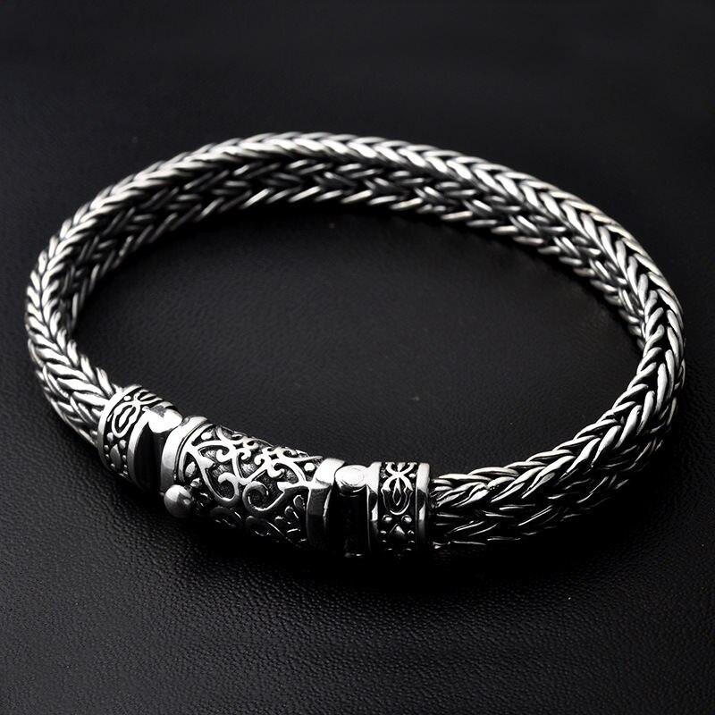 GAGAFEEL, 100%, 925, серебряные браслеты, ширина 8 мм, классический провод кабель, звено цепи, S925, тайские серебряные браслеты для женщин, мужчин, ювелирное изделие, подарок - 4