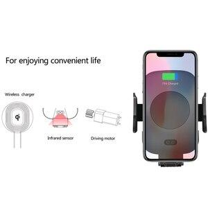 Image 3 - Veloce Caricabatteria per Auto Senza Fili E Automatico di Induzione Car Mount Air Vent Phone Holder Culla, per Il Iphone 11/Xs/X Samsung S10 S9 S8 S7