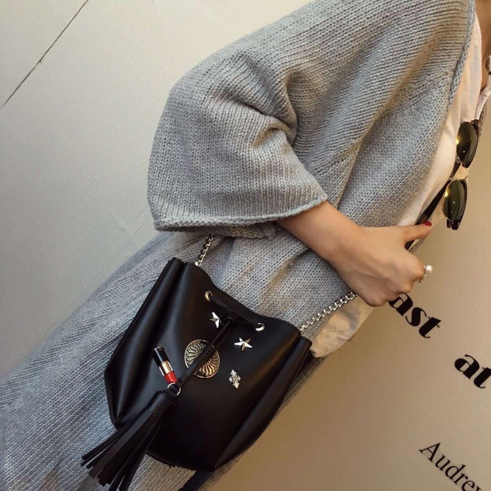 أحدث m دلو حقيبة المرأة بو الجلود حقيبة يد سيدة الكتف حقيبة crossbody حقيبة ، شحن مجاني