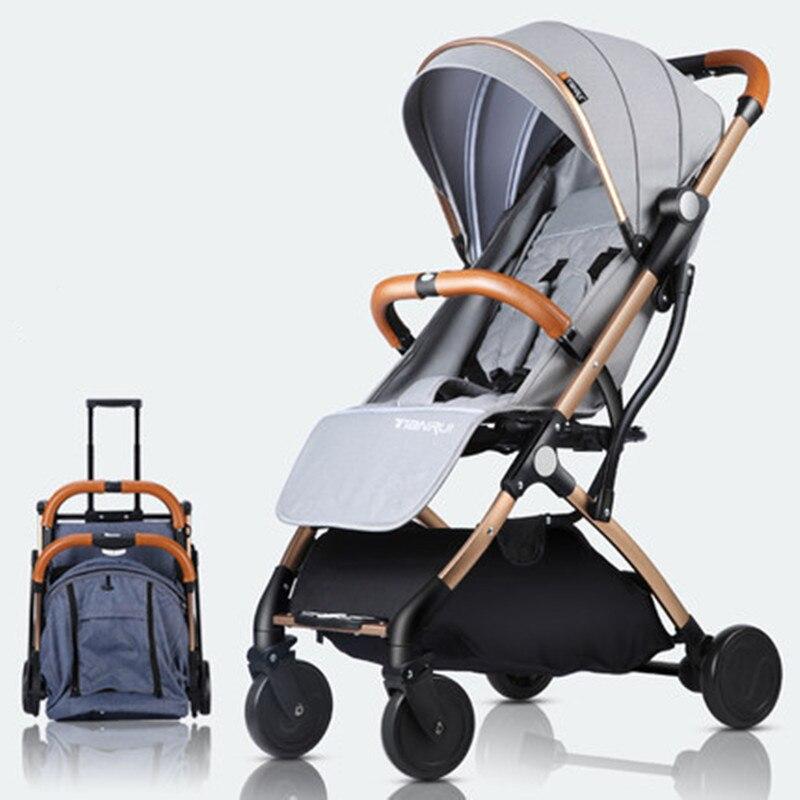 лучшая цена Ultra-Lightweight Baby Stroller Folding Yoya Plus Baby Trolley Car Can Sit Can Lie Portable On the Airplane