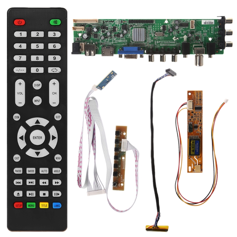 V56 V59 Universal LCD Driver Board DVB-T2 TV Board+7 Key Switch+IR+1 Lamp Inverter+LVDS Cable Kit 3663V56 V59 Universal LCD Driver Board DVB-T2 TV Board+7 Key Switch+IR+1 Lamp Inverter+LVDS Cable Kit 3663