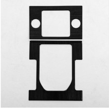 цена на ABS Chrome Gear Shift Panel Cover Trim Sticker For Land Rover Discovery 4 LR4 Car-styling