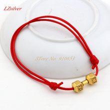 Хит! 1 шт регулируемые браслеты красные воски веревка Античное