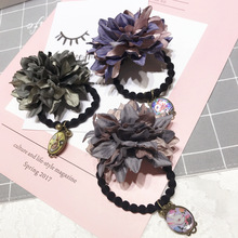 Korea Spring New Style Flower Double Hair Accessories Bows Elastic Bands Rubber Band Ring Headbands For Women