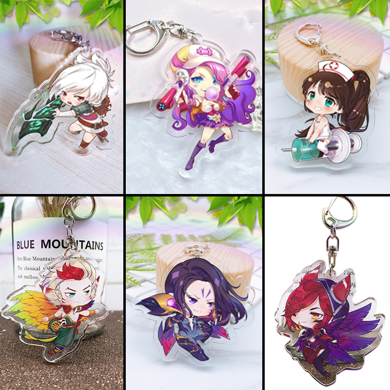 6 Types Game League Legends Acrylic Keychain Cute Pendant Jewelry Accessory Chaveiro Llaveros Gifts