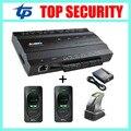 Sistema de control de acceso TCP/IP 1 puertas con 2 unids sensor de huellas digitales y lector de tarjetas lector de huellas dactilares y 1 unid