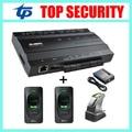 TCP/IP 1 двери система контроля доступа с 2 шт. считыватель отпечатков пальцев и 1 шт. датчик отпечатков пальцев и кард-ридер