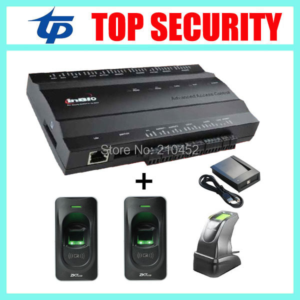 TCP/IP 1 door access control system with 2pcs fingerprint reader and 1pc fingerprint sensor and card reader tcp ip biometric face recognition door access control system with fingerprint reader and back up battery door access controller