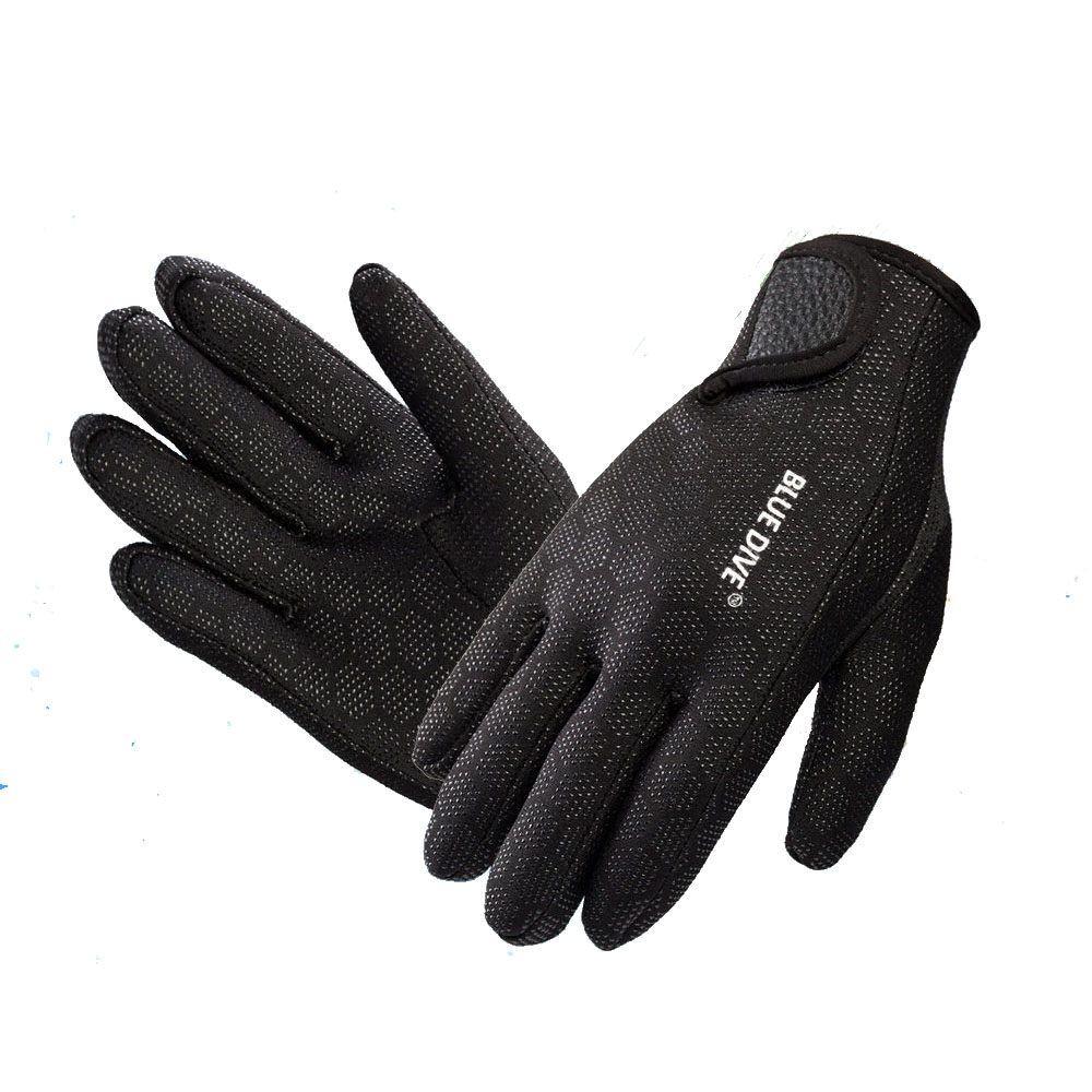 1.5MM Blue Diving Gloves Neoprene Swimming Diving Gloves Neoprene Glove With The Magic Stick For Winter Swimming Warm,anti-slip