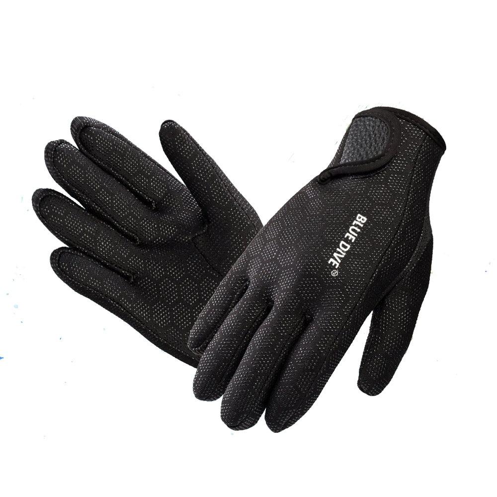 Синие перчатки для дайвинга 1,5 мм, неопреновые перчатки для плавания и дайвинга, неопреновые перчатки с волшебной палочкой для зимнего плав...