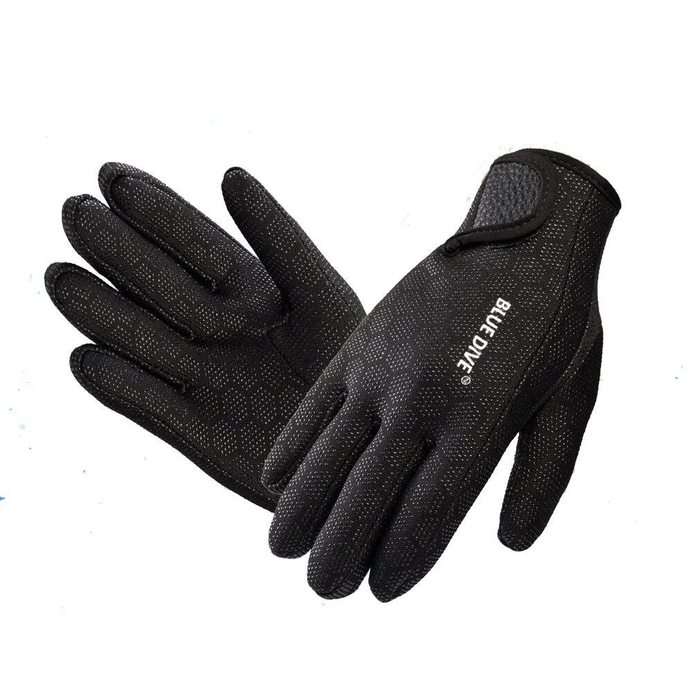 1,5mm en el azul guantes de neopreno buceo guantes de neopreno de con la magia palo para natación de invierno cálido anti-slip