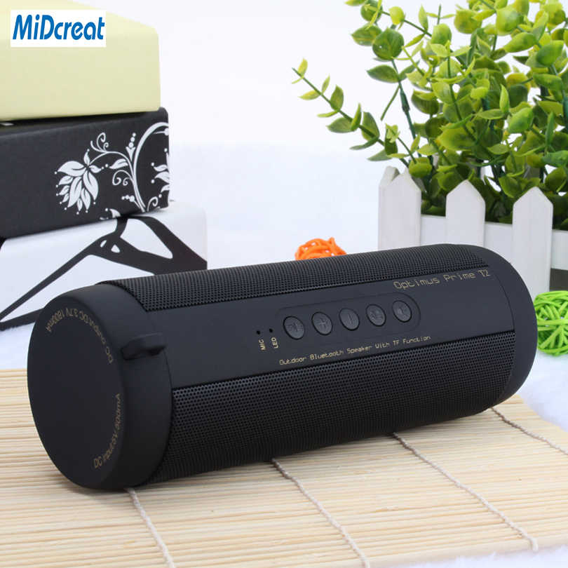 Tahan Air Bluetooth Speaker Nirkabel Super Bass Subwoofer Outdoor Sport Kotak Suara FM LED Light Portable Speaker Stereo Speaker