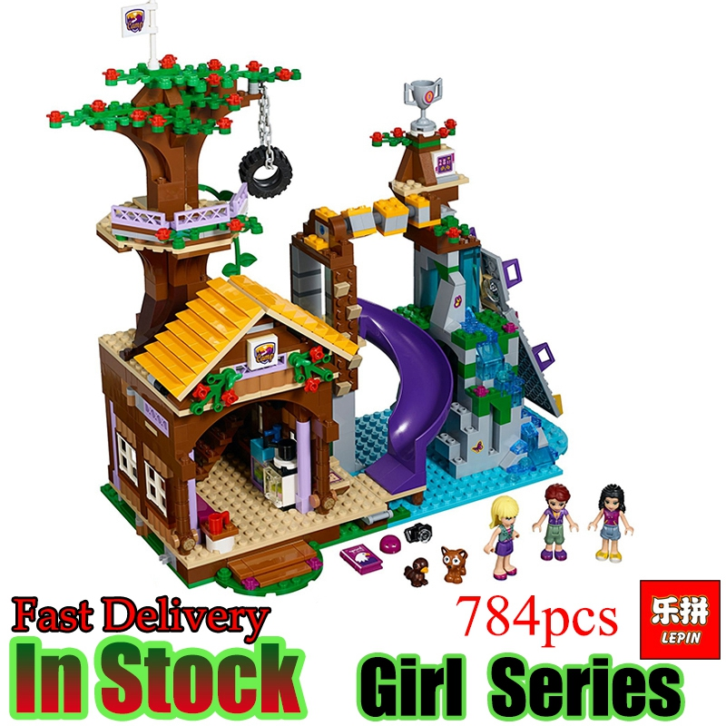 Lepin 01047 Friends 784PCS The Adventure Camp Tree House Good Girls Model Building Blocks Bricks Educational Toys Gifts 41122 худи print bar mars adventure camp