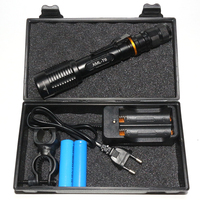 Plastic Box Packing LED Flashlight Set 2x18650 High Power 5000 Lumens CREE XML T6 LED Torch Lamp+Charger+Battery+Bike Holder