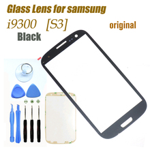 Original Black Outer Touch Screen Top Glass for Samsung Galaxy S3 SIII i9300 i535 L710 i747 T999 + 8Tools + Free Adhesives