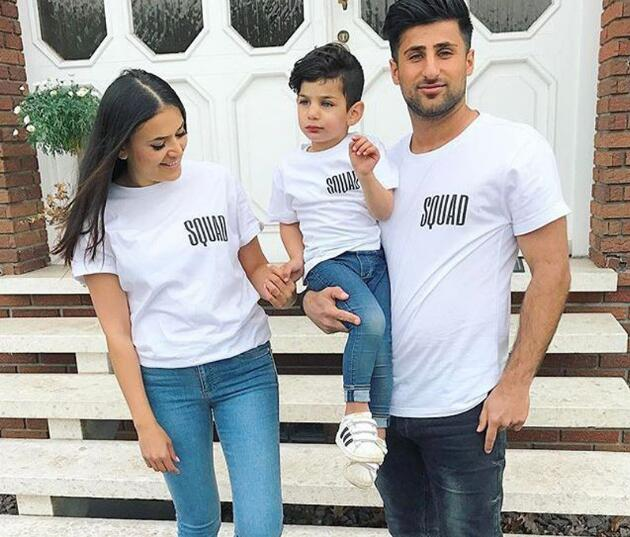 0cb140574d 2017 Family Matching Outfit SQUAD Dad Mum And Me T Shirts Cotton White  Summer Daughter Son Mother Father Tees Family Top