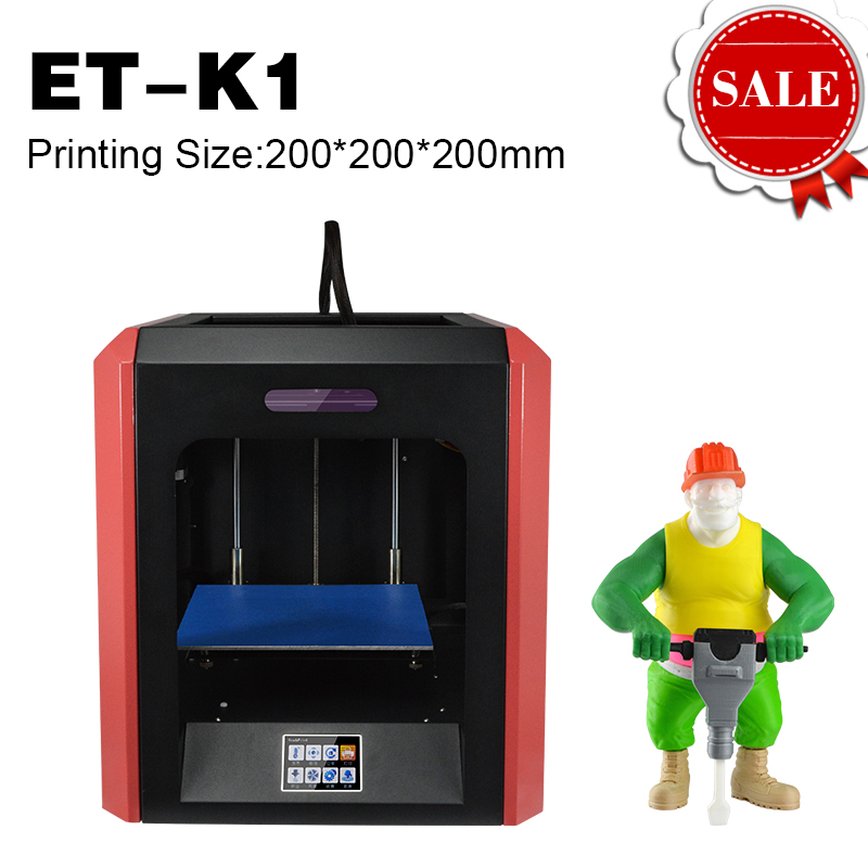 цена на ET-K1 3D Printer with Free 1kg Filament Free SD Card Extra Nozzle Multifunction Touch Screen All Metal Frame Digital Printer