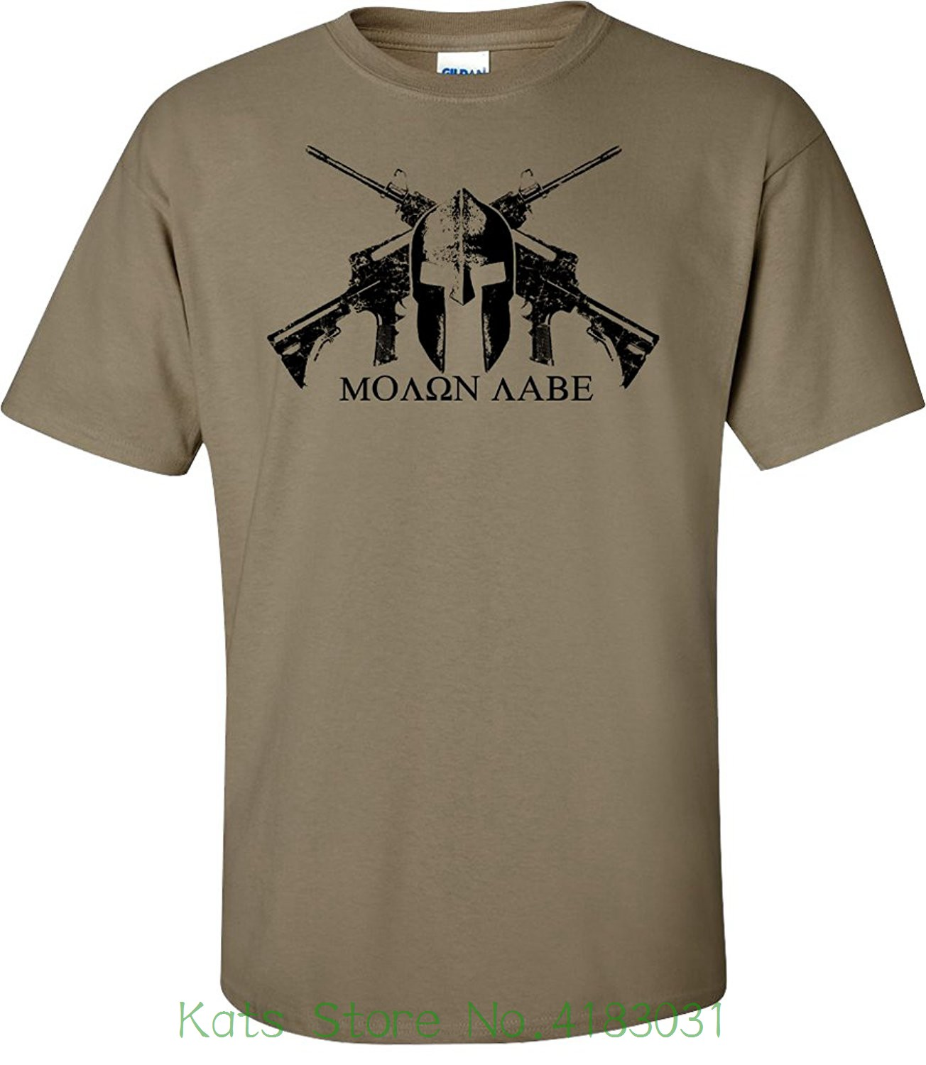 Coyote Helmet Molon Labe T-shirt O-neck Fashion Casual High Quality Print T Shirt