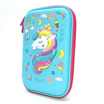 unicorn pencil case fish estojo escolar menina Creative school pencilcase kalem kutusu box stationery
