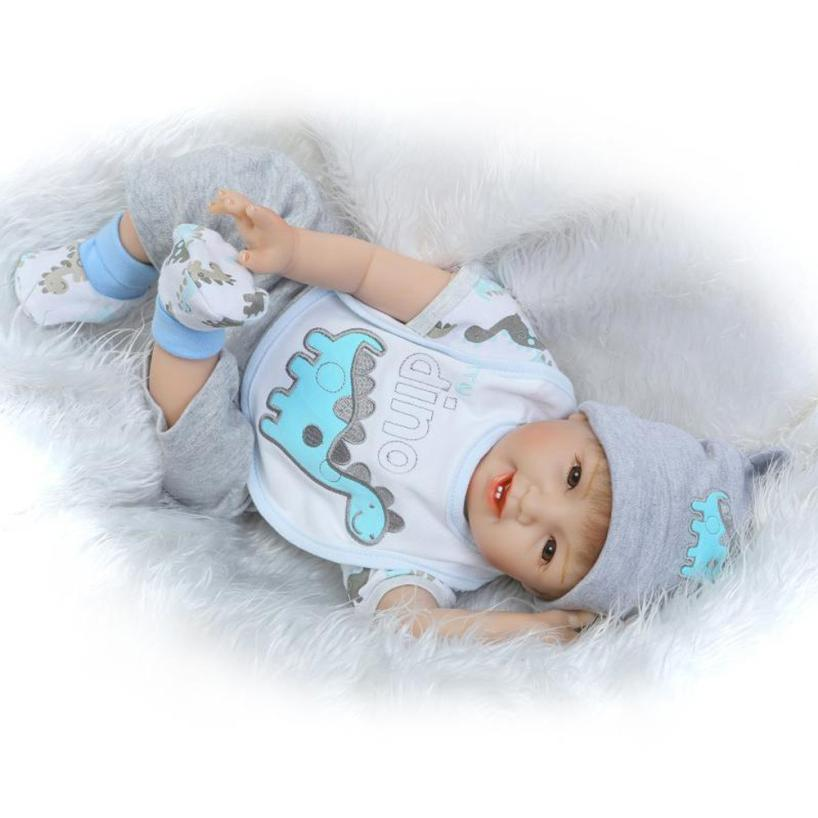 Высокое качество силикона винил Реалистичного Reborn Baby Doll 55 см куклы новорожденных дети девушка Playmate подарок на день рождения 2SW0628