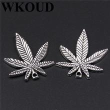 10 шт посеребренные кленовые листья подвеска из сплава ожерелье