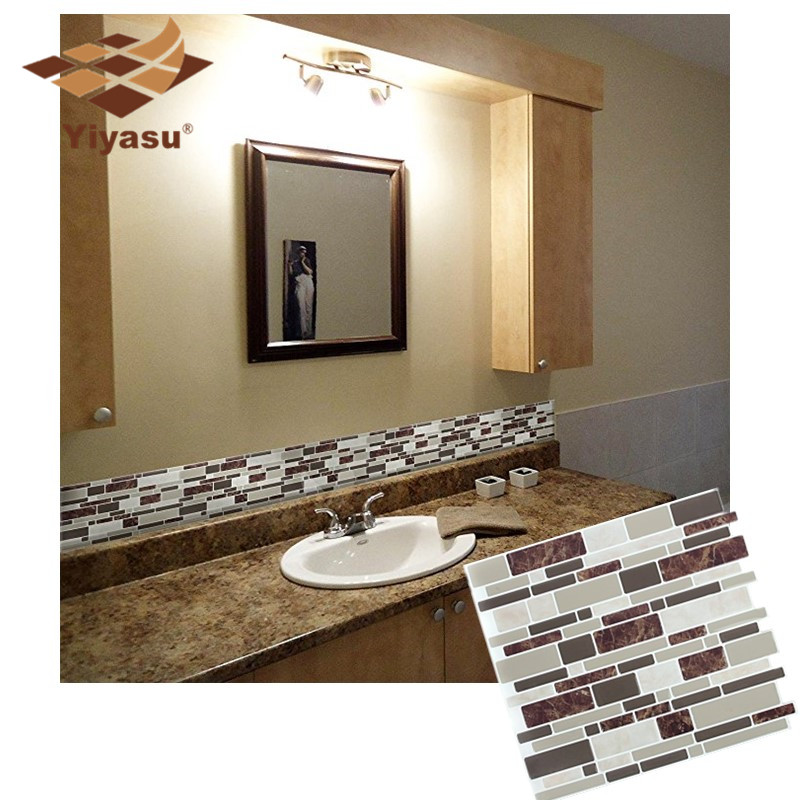Peel And Stick Wallpaper In Bathroom: Self Adhesive Mosaic Tile 3D Peel And Stick Wall Decal