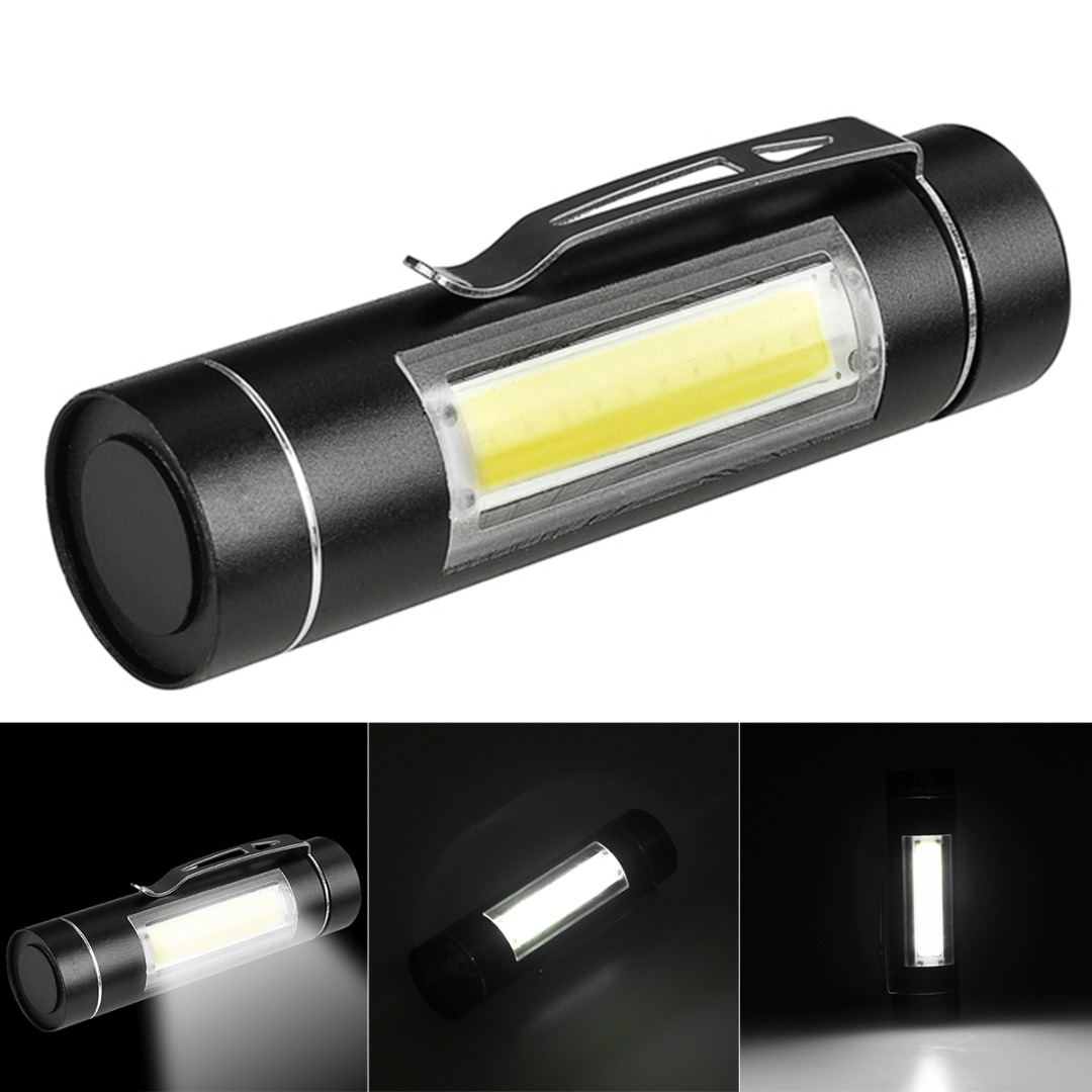 Super Portable Mini COB LED Flashlight 14500/AA Torch Working Pocket Pen Lamp With Clip Daily Waterproof Penlight small sun zy 568 super mini aa led flashlight torch