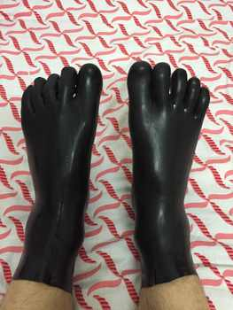 Special Offer Instock Latex Fetish Sock Latex Rubber Toe Sock Unisex Latex Rubber Short Sock 0.4mm Thickness black only M size - DISCOUNT ITEM  5% OFF All Category