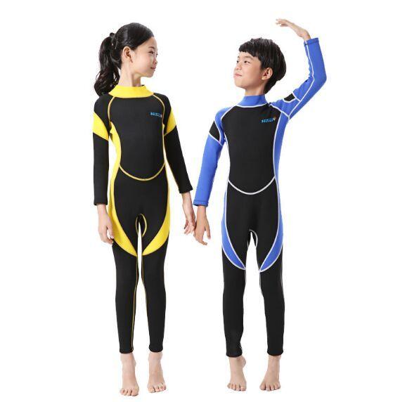 Long Sleeve Neoprene Wetsuits for Kids
