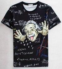 Math science T-shirt for boy/girl Graphic 3d t shirt men/women funny print Einstein t-shirt casual tops