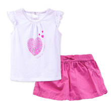 2017 Summer Baby Girl Clothes Baby Girl Clothing Set Fashion Casual T shirt Skirt Two Piece