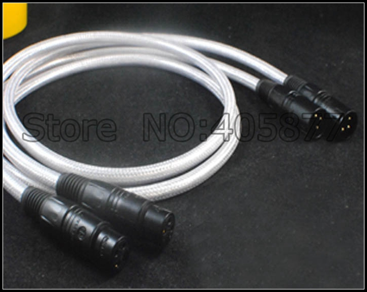 Pair audio silver plated hifi XLR audio cable 1M xlr audio video cable 1.5M