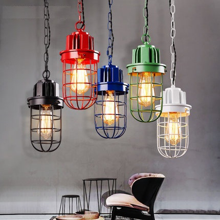 Loft Style Iron Vintage Pendant Light Fixtures RH Edison Industrial Lamp For Dining Room Bar Hanging Droplight Indoor Lighting creative loft style iron cage vintage pendant light fixtures antique industrial lamp hanging for dining room indoor lighting
