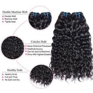 Image 5 - Mshere Wasser Welle Bundles Mit Verschluss Brasilianische Haar 3/4 Bundles Mit Spitze Verschluss Nicht Remy Menschliches Haar Bundles mit Verschluss