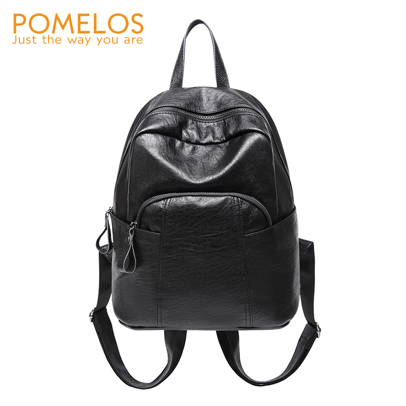 POMELOS Fashion Brand Soft Leather Women Backpack Travel Backpack Female High Quality Ladies Bag Back Pack Rucksack Backpacks