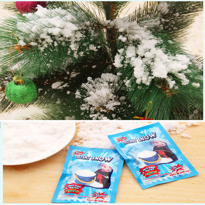 Bags set instant snow artificial magic fake