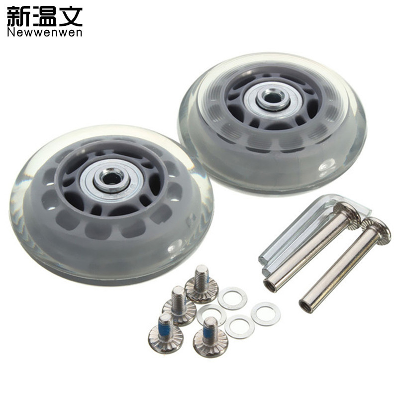Replacement Luggage Wheels Rubber Luggage Suitcase Replacement Wheels OF 70 2.76 Inch ID 6 W 24 Axles 35 Repair Set W3#