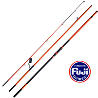 Japan NPC Full Fuji rings 4.2/4.5M 3 sections Carbon SURF fishing rod Distance Throwing Rod Intervene throw Anchor rod