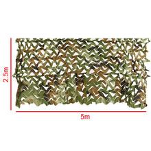 5m*2.5m Hunting Military Camouflage Net Woodland Army training Camo netting Car Covers Tent Shade Camping Sun Shelter
