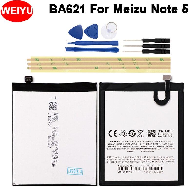 Ba621 Batterie For Meizu Note 5 Battery Meilan Note5 M5 Bateria Batterij Accumulator 4000mah+tools Mobile Phone Batteries