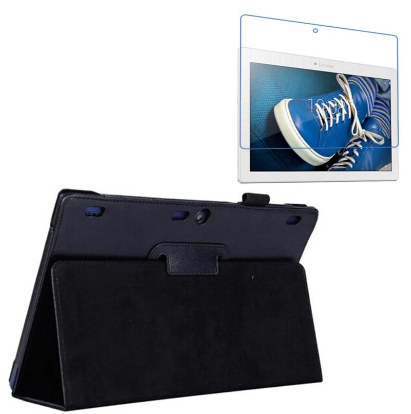 """1x Clear Screen Protector, Lyxig magnetisk Folio Stativ Läderfodral Skyddslock för Lenovo Tab 2 X30F TB2-X30F A10-30 10,1 """""""