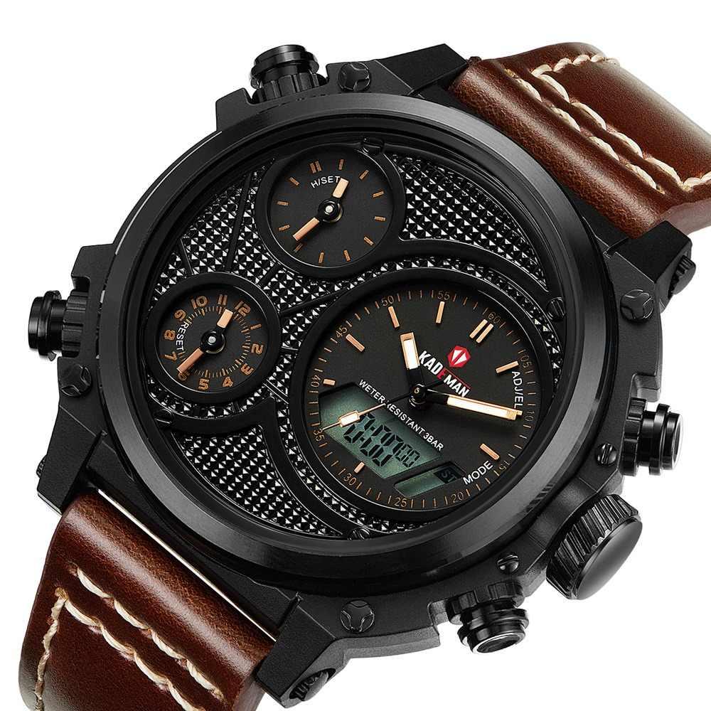 e18f34e1d4f8 Relojes Para Hombre de marca de lujo de la mejor de cuero de los hombres  relojes