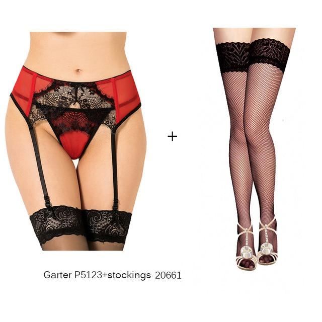 d07ca57c85 Boda Liga sexy con medias de encaje Sheer malla mujeres ligueros sexy ropa  interior 6 estilos