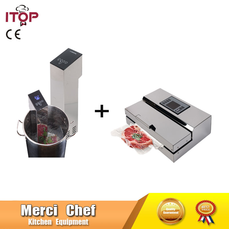 Food Machine 1 Set Vacuum Food Processor Sealer + Sous Vide Slow Cook Mahince Immersion Cooker Household and Commercial cukyi household electric multi function cooker 220v stainless steel colorful stew cook steam machine 5 in 1