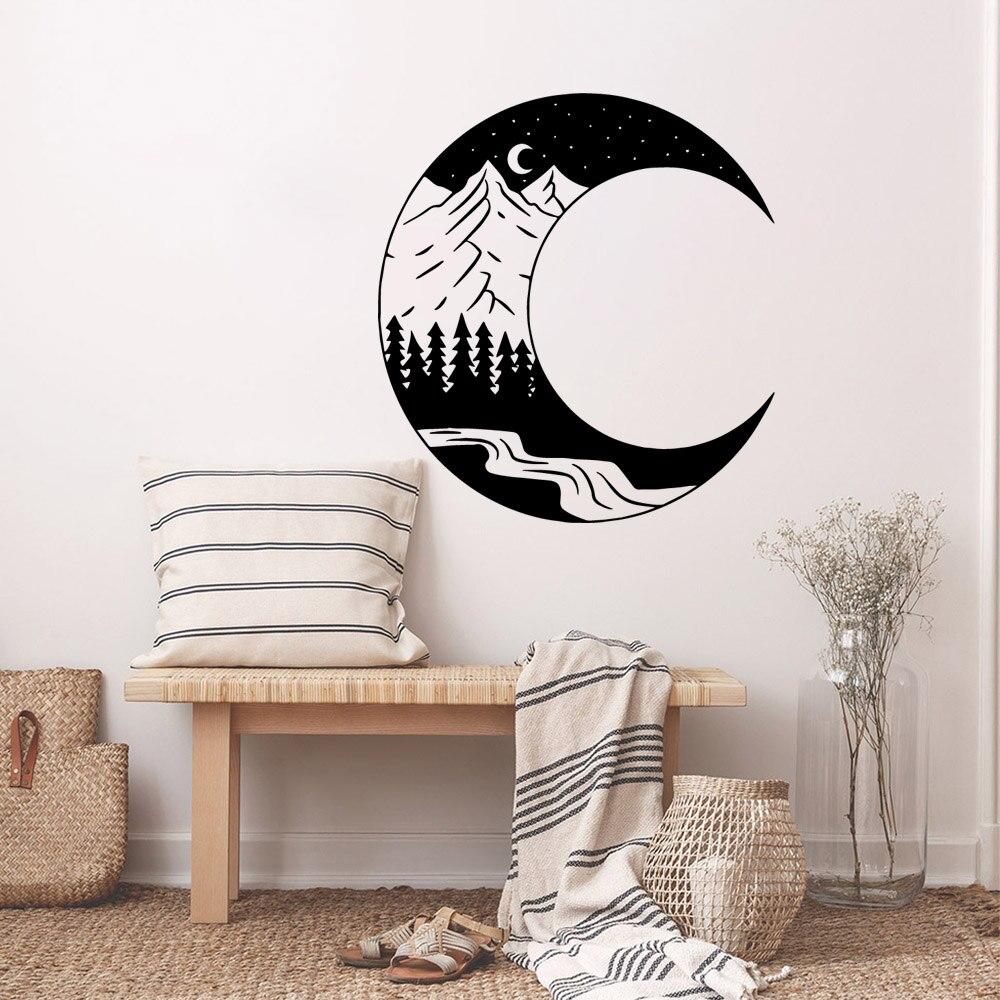 Muslim Islam moon night Wall Sticker Art Wallpaper For Living room Bedroom Baby's Rooms Mural Poster muursticker