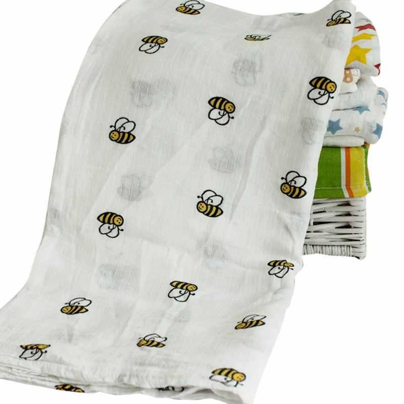 Manta de algodón para bebé recién nacido cómoda Toalla de muselina 120*120cm