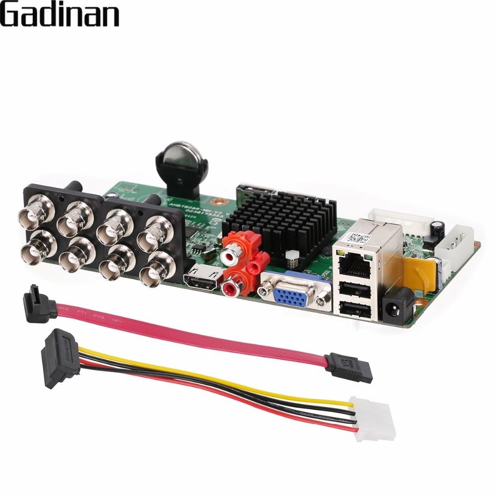 GADINAN Main Board 2MP 1080P AHD-H 8CH AHD DVR DIY Recorder Video Recorder 4*1080P(Analog)+4*1080P(IP) ONVIF XVR XMeye ONVIF P2PGADINAN Main Board 2MP 1080P AHD-H 8CH AHD DVR DIY Recorder Video Recorder 4*1080P(Analog)+4*1080P(IP) ONVIF XVR XMeye ONVIF P2P